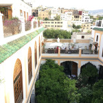 Breakfast on the terrace at Palais Amani, Fez