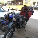 Gebhart Blazek's mode of transport laden with his latest souk finds, Khenifra
