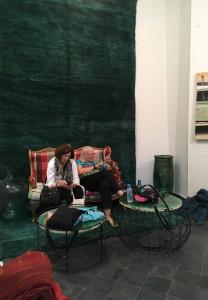 Dorothy Raphaely and Helen Marden, Soufiane showroom, Marrakesh