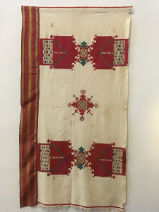 Embroidered Arid (hanging), Anjra, Chaouen, 19th century, Tamy Tazi Collection, Marrakesh