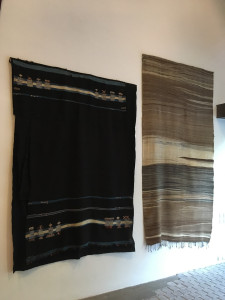Haik wrapping cloth and hanbel ceremonial blanket, Anti Atlas, Lucien Viola Collection, Marrakesh