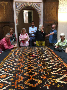 HALI Tour guests are treated to a special viewing of additional pieces from the Abdelhay Collection by his nephew, Rabii Alouani Bibi at the Mouassine Museum, Marrakesh