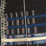 Detail from an indigo Jewish Berber textile, Abdelhay Collection, Mouassine Museum, Marrakesh