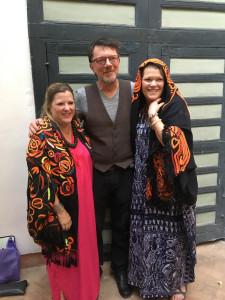 Paige Albright modelling Gebhart Blazek's El Gounâa shawls, Riyad El Cadi, Marrakesh