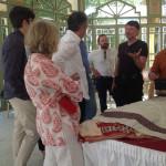 Gebhart Blazek, Ben Evans and Khalid El Kholti discuss the finer points of the El Kholti Collection, Rabat