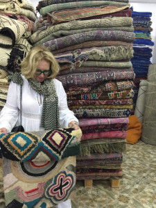 Decision making in the Soufiane showroom, Marrakesh (photo Paige Albright)