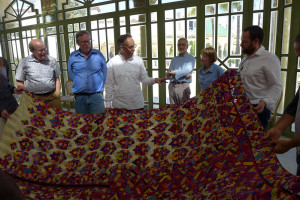 Khalid's current favourite embroidered Rabat curtain, El Kholti Collection, Rabat