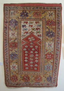 Anatolian prayer rug in the Bucharest Collections Museum