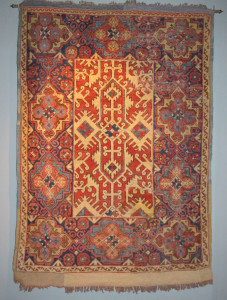 A Lotto rug with stunning colours