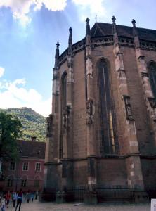 The famous Black Church in Braşov