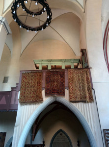 Rugs on a Lutheran church wall: a common sight in the german speaking parishes of Transylvania