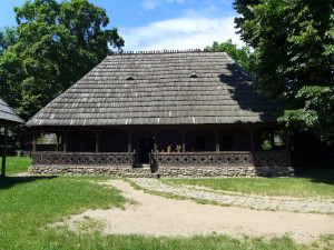 Traditional Romanian building from the Bucharest open-air Village Museum