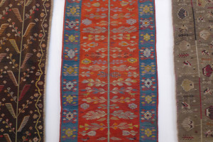 Romanian flatwoven tapestries at Mogosoaia Palace Museum