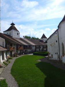 The courtyard of a fortified church