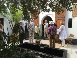 Patrick de Maillard welcomes the group to his Musee Boucharouite, Marrakesh