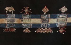 Decorative details on a rare black haik, Lucien Viola Collection, Marrakesh