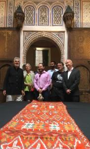 Wilfried Stanzer, guest Susan Zellmann Roher, Ben Evans, Rabii Alouani Bibi, Gebhart Blazek and Patrick Manac'h at the Mouassine Museum, Marrakesh