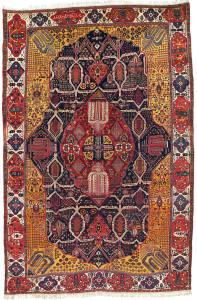 A Large Inscribed Bakhtiari Carpet