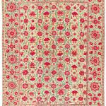 Lot 250: SUZANI, PROBABLY BUKHARA, UZBEKISTAN, 19TH CENTURY. 98 x 74in. (249 x 188cm.) £15-20,000