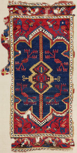 Lot30, a South-Central-Anatolian or Karapinar rug fragment, Konya-region, the so-called Pink Panther' rug, 17th century, est. £40-60,000, sold for £309,000 ($406,275). Sotheby's London, Rugs and Carpets, 7 November 2017