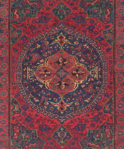 A MEDALLION USHAK CARPET