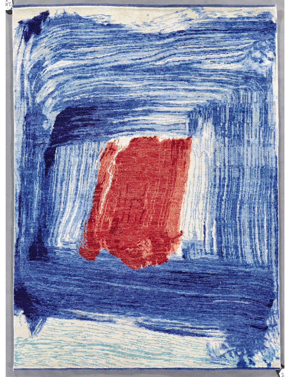 Artist proof for a rug by Howard Hodgkin