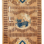 Lot 154. Ningxia 'RKO' rug, West China, First half 19th century. 129 x 67 cm. Estimate €1,800