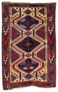 Lot 101. Yürük rug, North East Anatolia, Kars region,  First half 19th century. 205 x 132 cm. Estimate €6,500