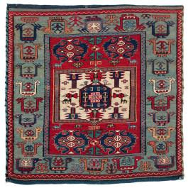 Lot 54. Shahsavan Bag Half , South East Caucasus, Moghan-Savalan region. First quarter 19th century. 70 x 71 cm . Estimate €18,500