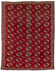 Lot 109. Salor Main Carpet, Central Asia, West Turkestan, Ca. 1800. 318 x 245 cm. Estimate €58,000.