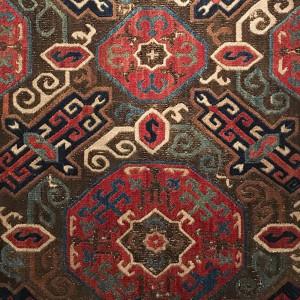 Embroidery in 'Silk Treasures' at ANMA, Baku