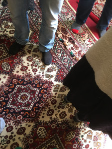 Chelov village weaver's completed rugs