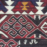 Dated flatweave (detail), Chelov village, Azerbaijan