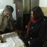 HALI Tour guest, Noemi Boralevi tries her hand at batik, Baskal Silk Center