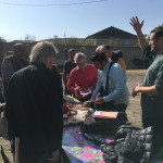 Ryan Smith welcomes the HALI Tour to Karachopt village, an Azeri village in Georgia and one of the places his reWoven weavers live