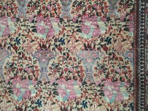 Silk and wool carpet, Tehran, circa 1900, Simon Janashia National Museum of Georgia stores