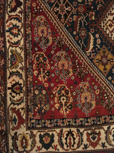 Boteh on a late 19th century Qashguli rug, Simon Janashia National Museum of Georgia stores
