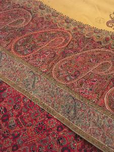 Kashmir shawl detail, Simon Janashia National Museum of Georgia stores