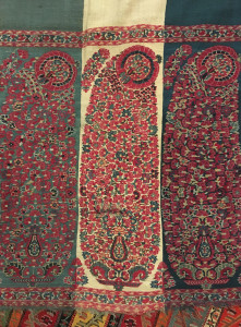 Kashmir shawl boteh detail, early 18th century, Simon Janashia National Museum of Georgia stores