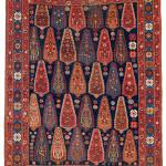 Lot 96. Afshar rug. South Persia, Kerman region.  Ca. 1860.  174 x 128 cm.  Estimate €3,300.