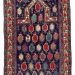 Lot 58. Marasali Prayer Rug, East Caucasus, Shirvan region,  Mid 19th century. 154 x 91 cm. Estimate €18,000