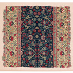 Lot 134 Kashmir Fragment,  North India, Late 18th century. 63 x 69 cm. Estimate €2,400.