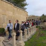 ISAC speakers and HALI Tour guests, Hadi Maktabi and Jeff Spurr lead the group in Baku's Icherisheher (Old Town)
