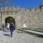 The walk to the Khan's Summer Palace, Sheki, Azerbaijan