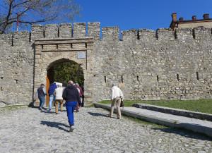 The walk to the Khan's Summer Palace, Sheki, Azerbaijan