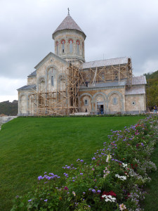 Cathedral restoration at the Monastery of St Nino, Bodbe, Georgia