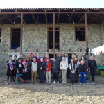 HALI Tour group outside the house of Terlan Mamedova