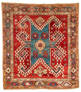 Lot 114. Bergama rug, North West Anatolia,  Mid 19th century. 181 x 160cm. Estimate €9,800