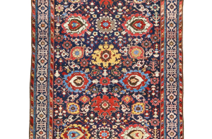 Lot 144, northwest Persian Harshang-design carpet, circa 1800, est. £50-70,000, this sold for £60,000 ($78,600), Sotheby's London, Rugs and Carpets, 7 November 2017