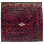 Lot 193. Baluch Bag Face, North East Persia, Khorasan, Second half 19th century. 92 x 96 cm. Estimate €750.